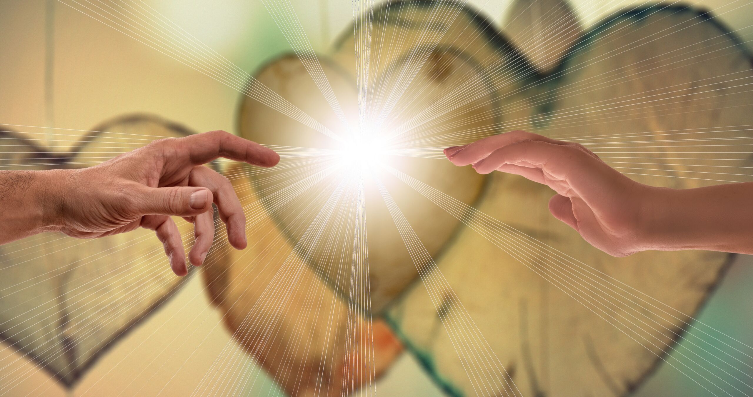 Contact Warmth Hands Close Love Hope Rays Faith