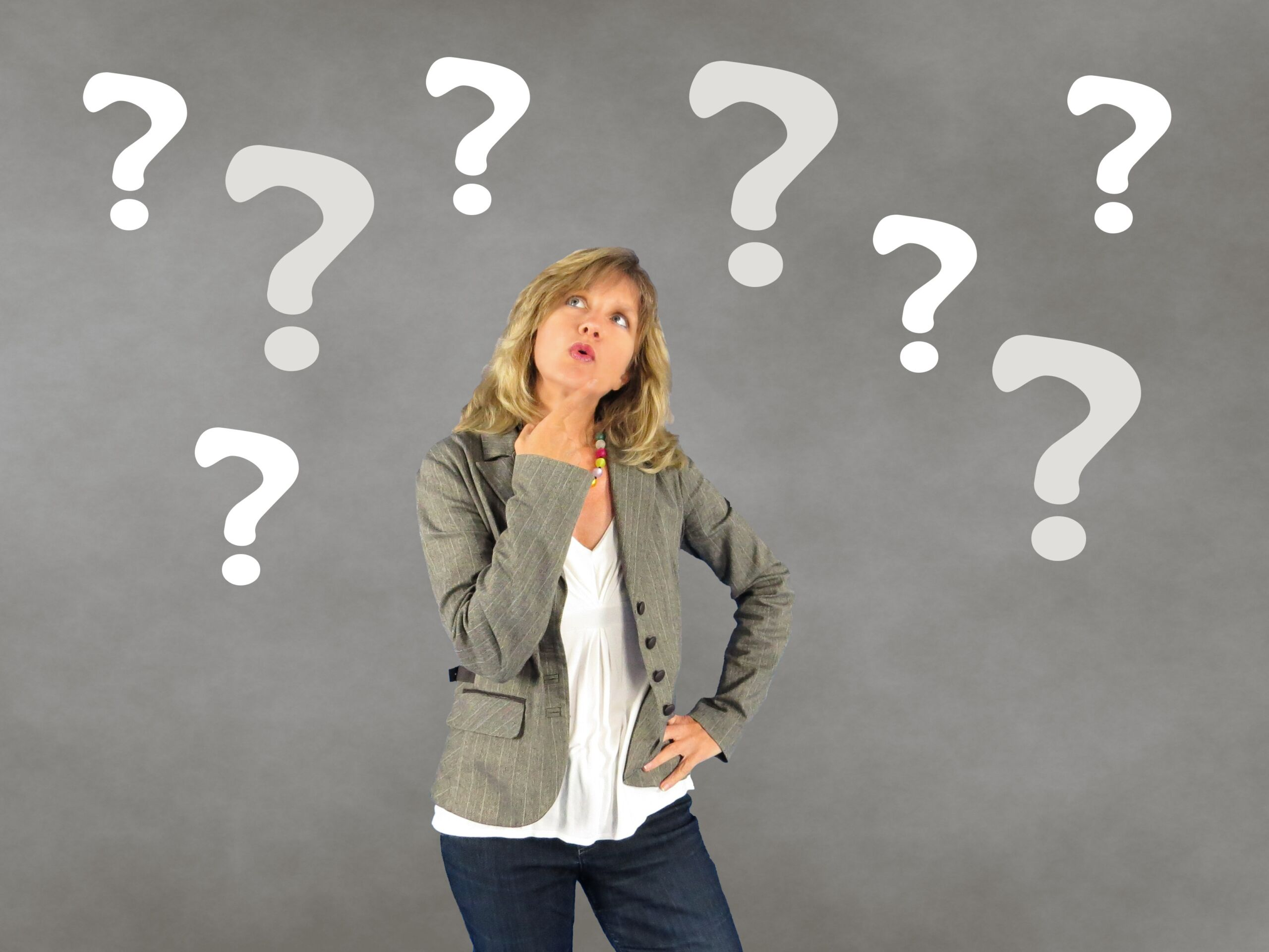 Woman Person Question Mark Thoughtful Decision